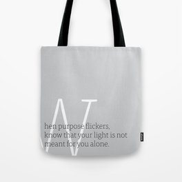 a letter to oneself : purpose Tote Bag