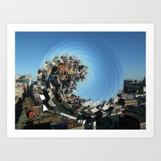 Spinning City Art Print