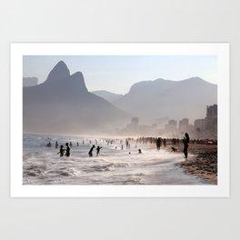 Ipanema beach, Rio, Brazil Art Print