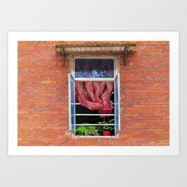 Double Happiness Window Art Print