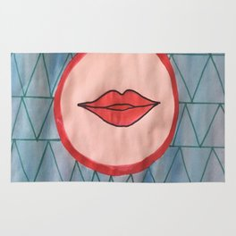 painted lips Rug