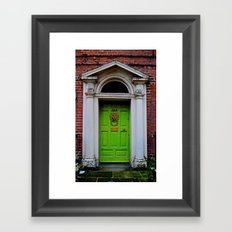 The Lion at No. 8 Framed Art Print