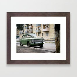 Green Lada in Armenia Framed Art Print