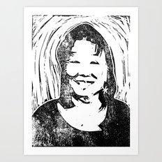 Eileen Stamp Art Print