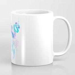 Sky Blue Soft Pink Turquoise Violet Octopus, teal animal beach art Coffee Mug
