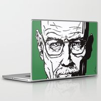walter white Laptop & iPad Skins featuring Walter White by Leamartes