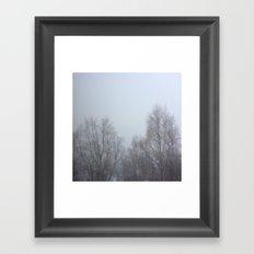 Winter Fog Framed Art Print