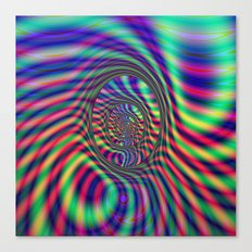 Psychedelic Ovals Canvas Print