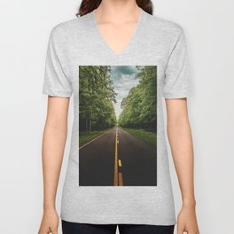 On the Road Again in Michigan Unisex V-Neck