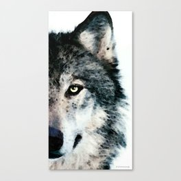 Wolf Art - Timber by Sharon Cummings Canvas Print