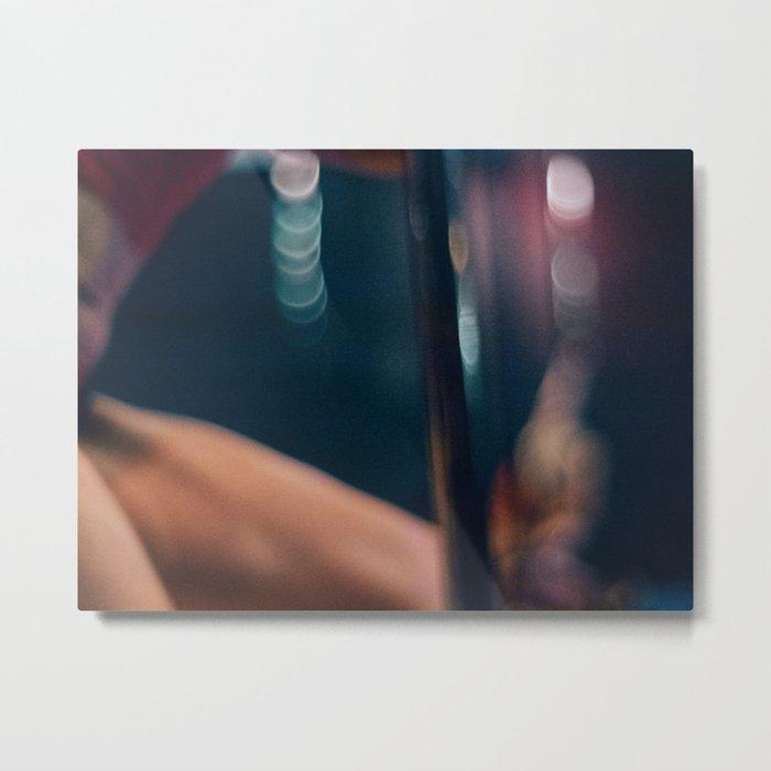 Pole Dancer Abstract Metal Print