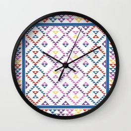 Bohemian Kilim Ethnic Pattern 2 Wall Clock