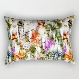 Abstract Motion Blur Floral Botanical Rectangular Pillow