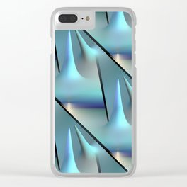 3D - abstraction -82- Clear iPhone Case