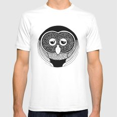 OOwl MEDIUM Mens Fitted Tee White