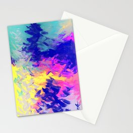 Neon Mimosa Inspired Painting Stationery Cards