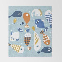 Fish Crowd Throw Blanket