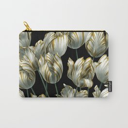 Winter Tulips in Gold. Carry-All Pouch