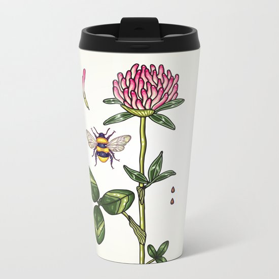 aromatic red clover Metal Travel Mug