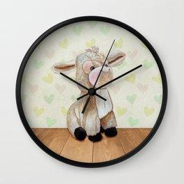 Cuddly Donkey Wall Clock