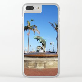 Santa Barbara Dolphins 2504 Clear iPhone Case