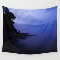 switzerland Wall Tapestries featuring When the night falls  by UtArt