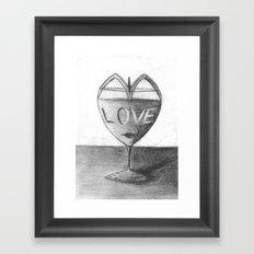 Glass of love Framed Art Print