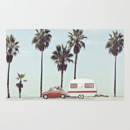 NEVER STOP EXPLORING - CAMPING PALM BEACH Rug