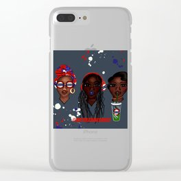 See, Hear, Speak No Evil in London Town Clear iPhone Case