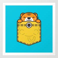 Pocket Tiger Art Print