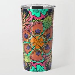 Ave de la Soledad - bird, botanical, garden, lush, exotic, floral, flower, colorful, forest, tropic Travel Mug