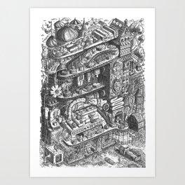 Farmer Machinery Art Print