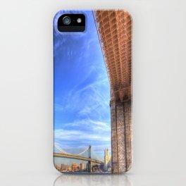 Brooklyn And Manhattan Bridges iPhone Case