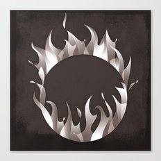 Burning Ring of Fire Canvas Print
