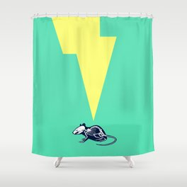 Electro Mouse Shower Curtain