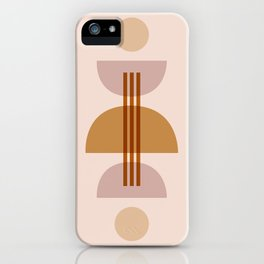 Amber Abstract Half Moon 1 iPhone Case