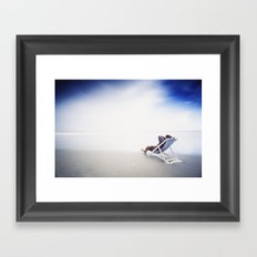 Chilling at the Beach Framed Art Print