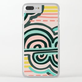 cloudy with a chance of rain Clear iPhone Case