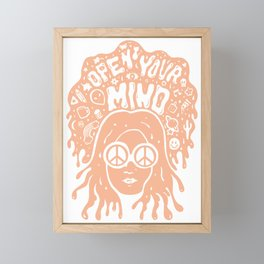 Open Your Mind in orange Framed Mini Art Print