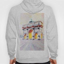 Watercolor triumphal arch Hoody