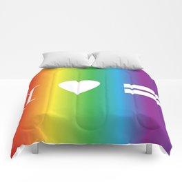 I heart Equality Comforters