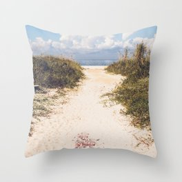 The Beach Path Throw Pillow
