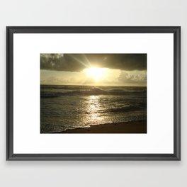 Sunset in reflective light Framed Art Print