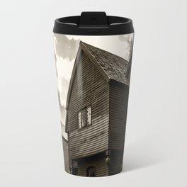 Corwin House - Salem MA - Black and White Travel Mug