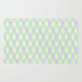Gently green checkered pattern. Rug