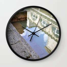 Roman Baths Reflection Wall Clock
