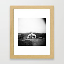 The Sedalia Store in Black and White Film Photograph Framed Art Print