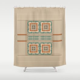 Relaxing Color Tone Pattern Design Shower Curtain