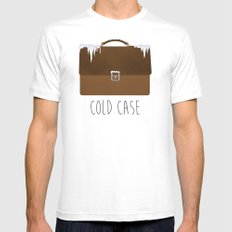 Cold Case White MEDIUM Mens Fitted Tee