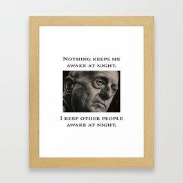 Mattis - Nothing Keeps Me Awake Framed Art Print